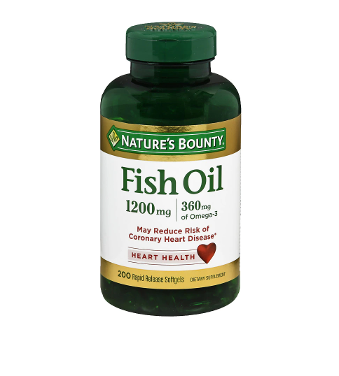 Nature's Bounty ኔቸርስ ቦኒ (Fish Oil 1200 mg Dietary Supplement Rapid Release Liquid Softgels)