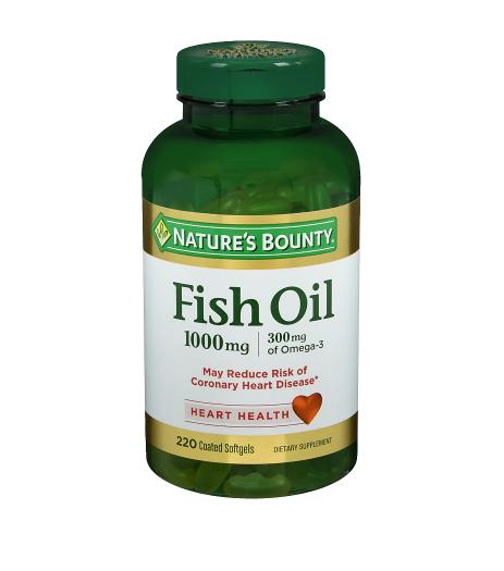 Nature's Bounty ኔቸር ቦንቲ (Odorless Fish Oil 1000 mg Dietary Supplement Softgels)