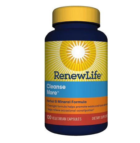 ReNew Life ርኒው ላይፍ CleanseMore Dietary Supplement Vegetarian Capsules