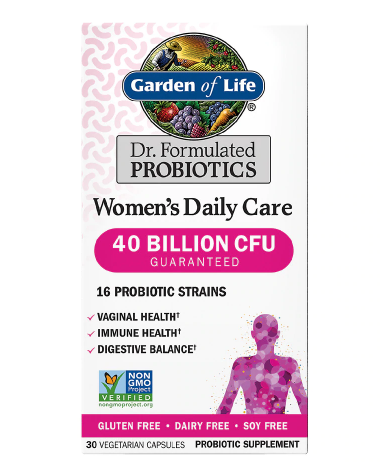 Garden of Life ጋርደን ኦፍ ላይፍ (Dr. Formulated Women's Daily Care Probiotic Capsules)