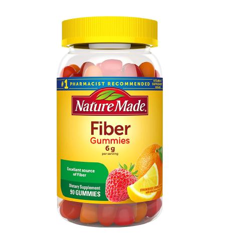 Nature Made ኔቸር ሜድ (Fiber Adult Gummies Assorted Fruit Flavors)