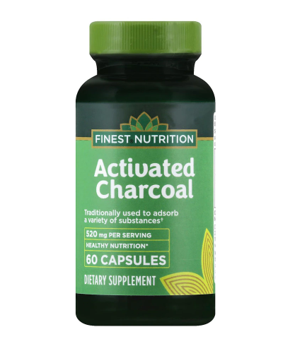 Finest Nutrition ፊነስት ኑትሬሽን (Activated Charcoal 250 mg Capsules)