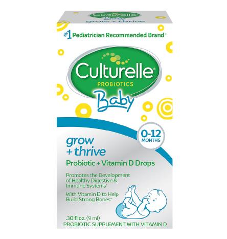 Culturelle ካልቸረል (Baby Grow & Thrive Probiotic + Vitamin D, Drops)