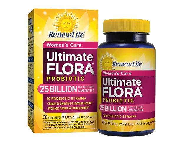 ReNew Life ሪኒው ላይፍ (Ultimate Flora Women's Care Probiotic Veggie Capsules)