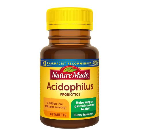 Nature Made ኔቸር ሜድ Acidophilus Probiotics Tablets