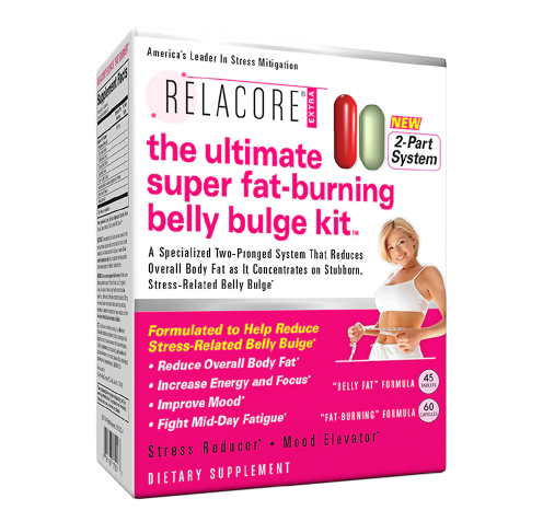 Relacore Ultimate Super Fat Burning Belly Bulge Kit, 2-Part System