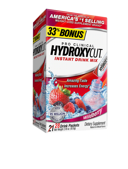 Hydroxycut Pro Clinical Weight Loss Dietary Supplement Powder Wildberry
