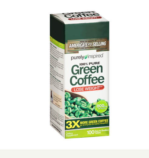 Purely Inspired Green Coffee Bean, Tablets