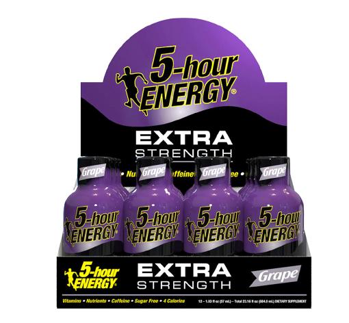 5-Hour ENERGY Shot, Extra Strength Grape