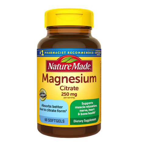 Nature Made Magnesium Citrate 250 mg Softgels