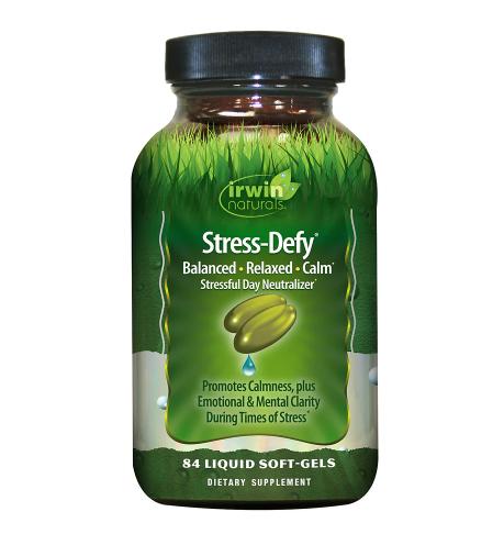 Irwin Naturals Stress-Defy Liquid Soft-Gels Stressful Day Neutralizer