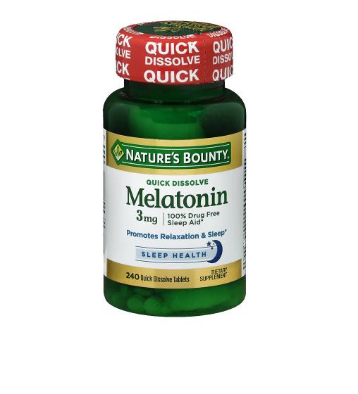 Nature's Bounty Melatonin 3 mg Dietary Supplement Tablets