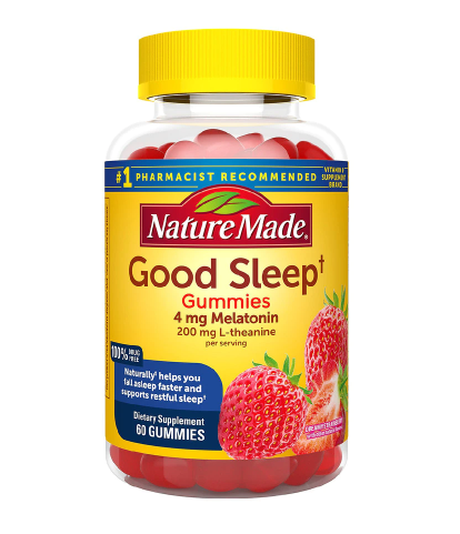 Nature Made Good Sleep Gummies - Melatonin 4 mg + L-theanine 200 mg Dreamy Strawberry