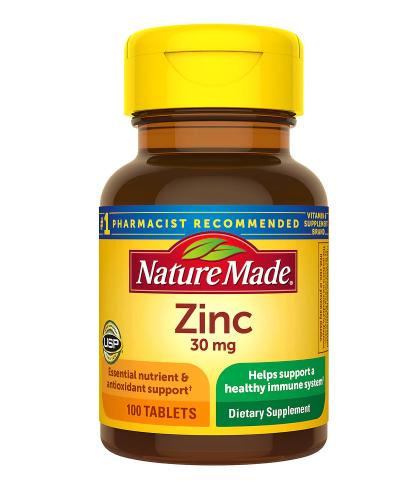 Zinc 30 mg Dietary Supplement Tablets
