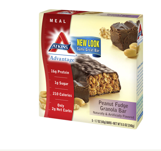 Atkins Advantage Meal Bars Peanut Fudge Granola