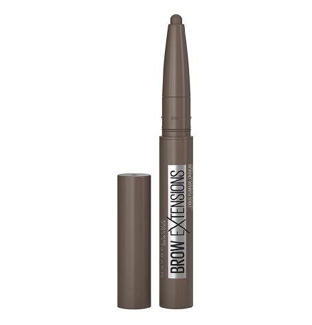 Maybelline Brow Extensions Fiber Pomade Crayon Eyebrow Makeup, Deep Brown