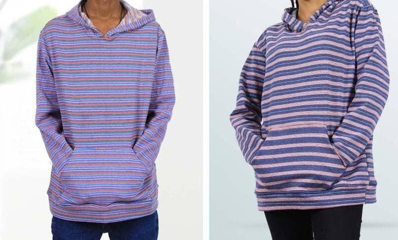 ለሁለቱም ጾታ የሚሆን ባለኮፍያ ሹራቦች Sweaters for both sexes
