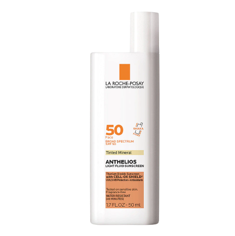 La Roche-Posay Anthelios Mineral Tinted Face Sunscreen, Anthelios Ultra Light Sunscreen for Face SPF 50
