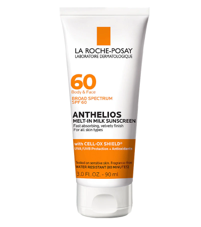 La Roche-Posay Anthelios Body & Face Sunscreen, Melt-In Milk Oxybenzone Free SPF 60