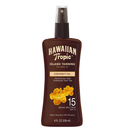 Hawaiian Tropic Island Tanning Dry Oil Spray SPF 15