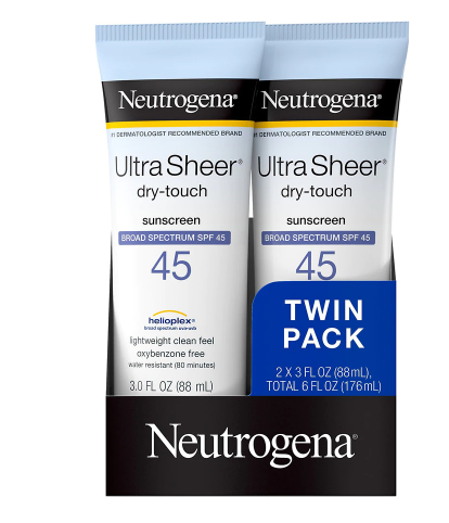 Neutrogena Ultra Sheer Dry-Touch Water Resistant Sunscreen SPF 45