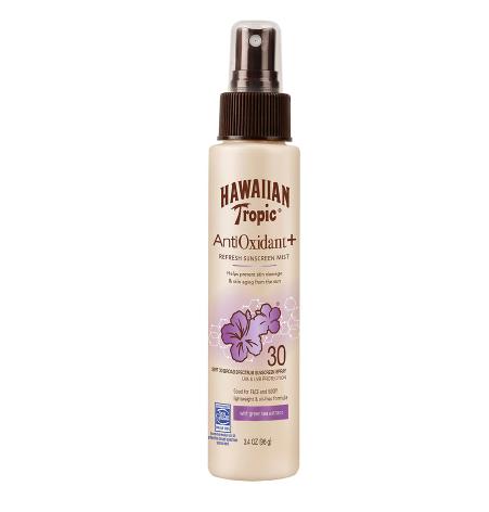 Hawaiian Tropic Antioxidant Plus Sunscreen Mist SPF 30