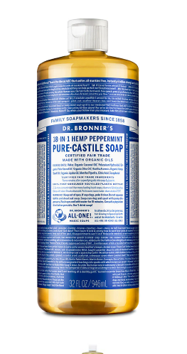 Dr. Bronner's Peppermint Castile Soap (Packaging May Vary)