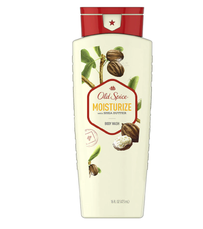 Old Spice Body Wash for Men Moisturize Inspired by Nature Shea Butter
