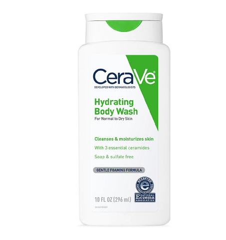 CeraVe Hydrating Body Wash Moisturizes Normal to Dry Skin