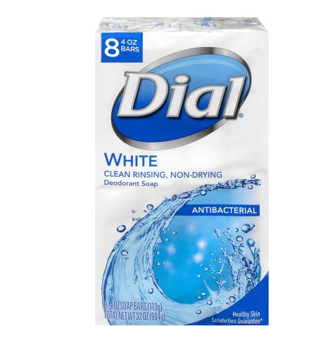 Dial Antibacterial Deodorant Bar Soap Clean and Fresh