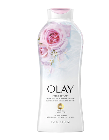 Olay Fresh Outlast Body Wash Rose Water and Sweet Necta