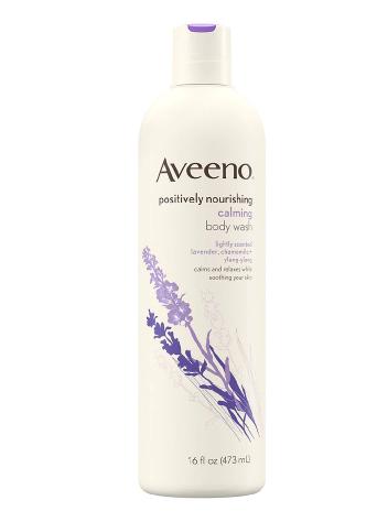 Aveeno Positively Nourishing Calming Lavender Body Wash Calming Lavender, Chamomile + Ylang Ylang