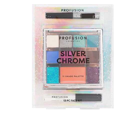 Profusion Mixed Metals Silver Chrome 13-Piece Face Kit