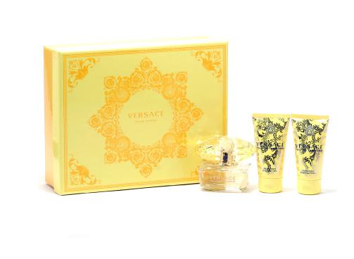 Versace Yellow Diamond Eau de Toilette, Shower Gel, & Body Lotion Set