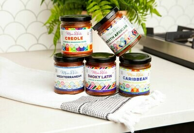 Mesa de Vida 5 Pack Recipe Starter Variety Bundle | Whole30 Approved Cooking Sauce