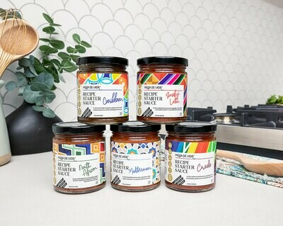 Global Flavors Collection - 5 Pack Variety Bundle | Whole30 Approved Recipe Starter and Cooking Sauces