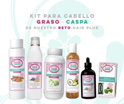 KIT PARA CABELLO GRASO - CASPA