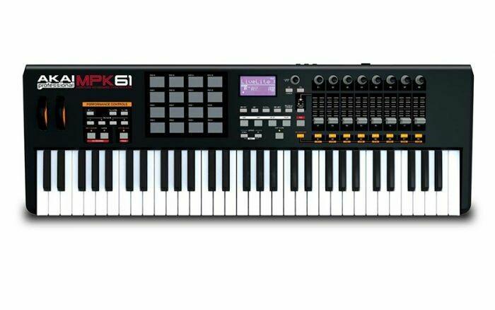 Controlador Profesional USB/MIDI, de 61 Teclas, Akai. Mod. MPK61