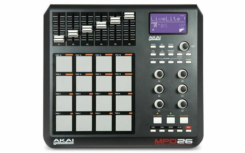 Controlador Profesional USB/MIDI Tipo PAD, Akai. Mod. MPD26