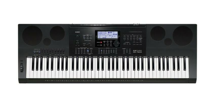 Teclado Portátil, 76 Teclas, USB/MIDI, Casio, Mod. WK-7600