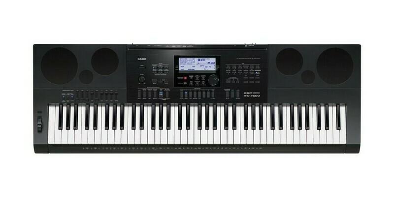 Teclado Portátil, 76 Teclas estilo piano, USB/MIDI, Casio, Mod. WK-7600