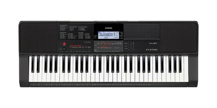 Teclado Portátil, 61 Teclas, USB/MIDI, Casio, Mod. CT-X700A