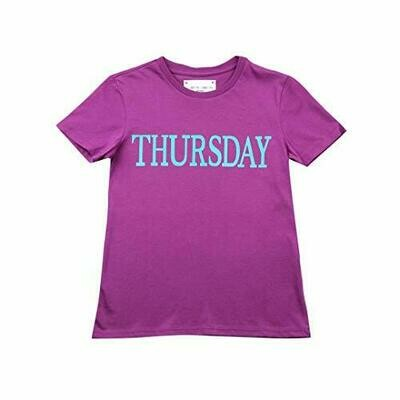 Alberta Ferretti Junior T-Shirt Rainbow Week Bambino Kids Girl MOD. 019295