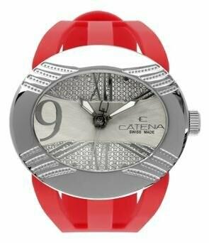 Swisspace S903LAA09 - Orologio da polso da donna, cinturino in plastica colore rosso