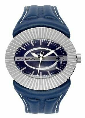 Swisspace S918LEQ67 - Orologio da polso da uomo, cinturino in pelle colore blu
