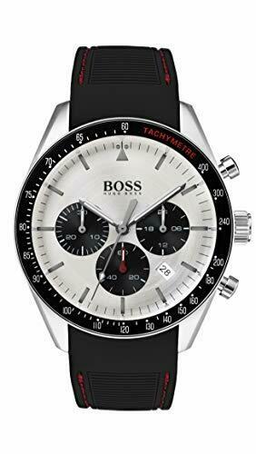 BOSS Trophy 1513627 - Orologio da uomo al quarzo, in acciaio INOX e gomma