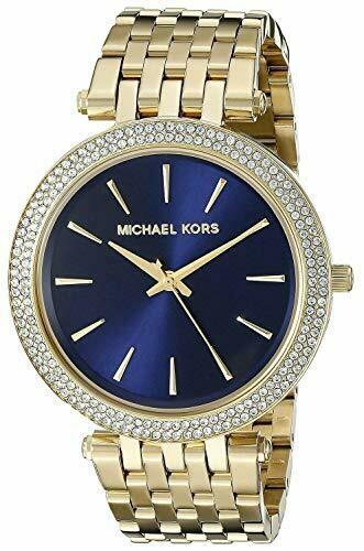 Michael Kors MK3406 - Orologio Darci da Donna, Placcato Oro, con quadrante Blu Marino, con Scatola