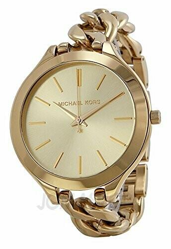 Michael Kors Slim Pista Champagne Quadrante Oro-tono donna Orologio MK3222