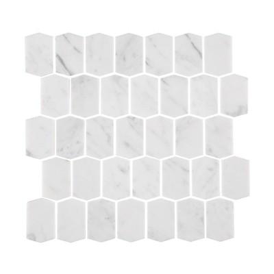 Carrara Marble Shields Mosaic