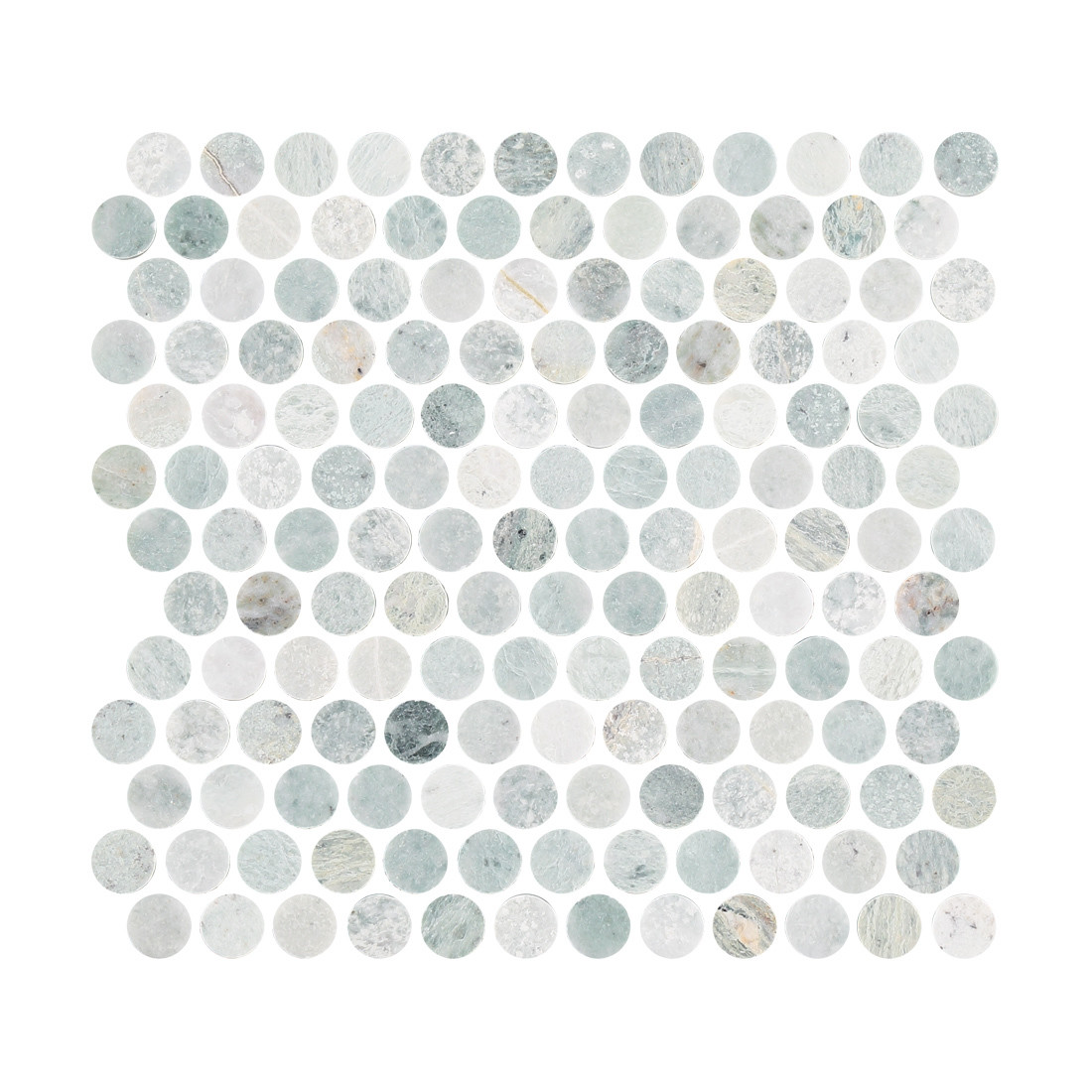 Ming Green Marble Penny Round Mosaic